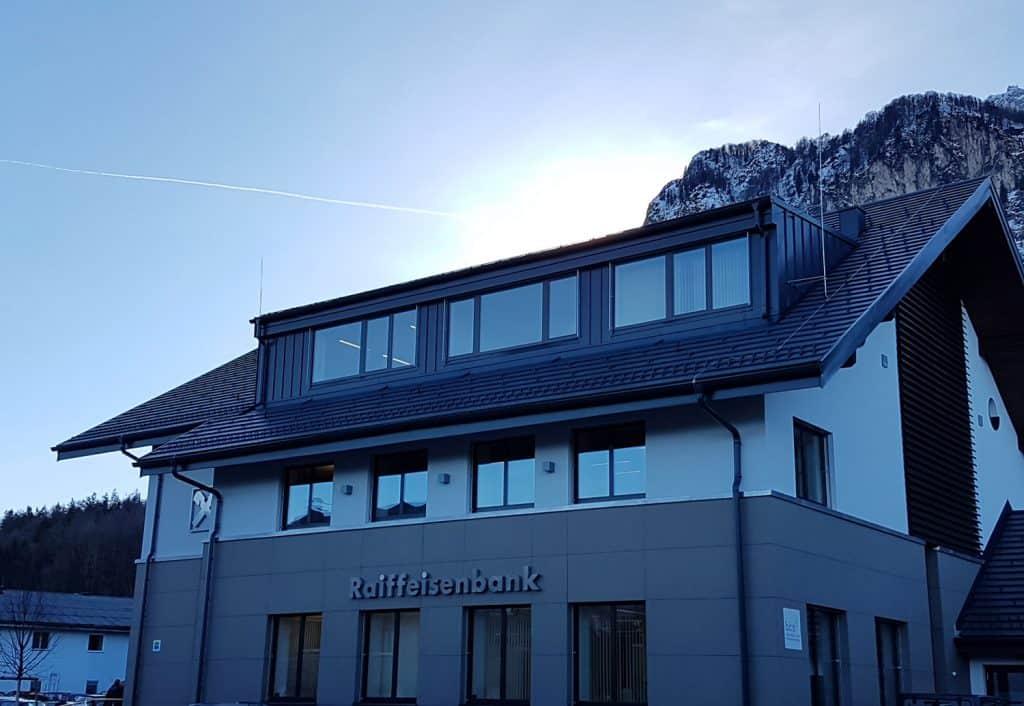 Dachpower Grödig Salzburg, Referenzen, Raiffeisenbank Grödig 2017