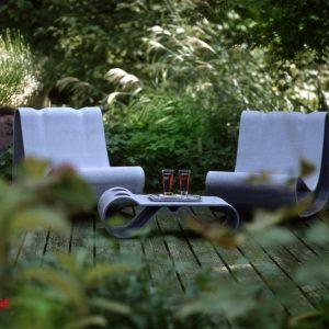Willy Guhl Stuhl und Tisch - Gartenprodukte von Eternit bei Dachpower Grödig - copyright Eternit